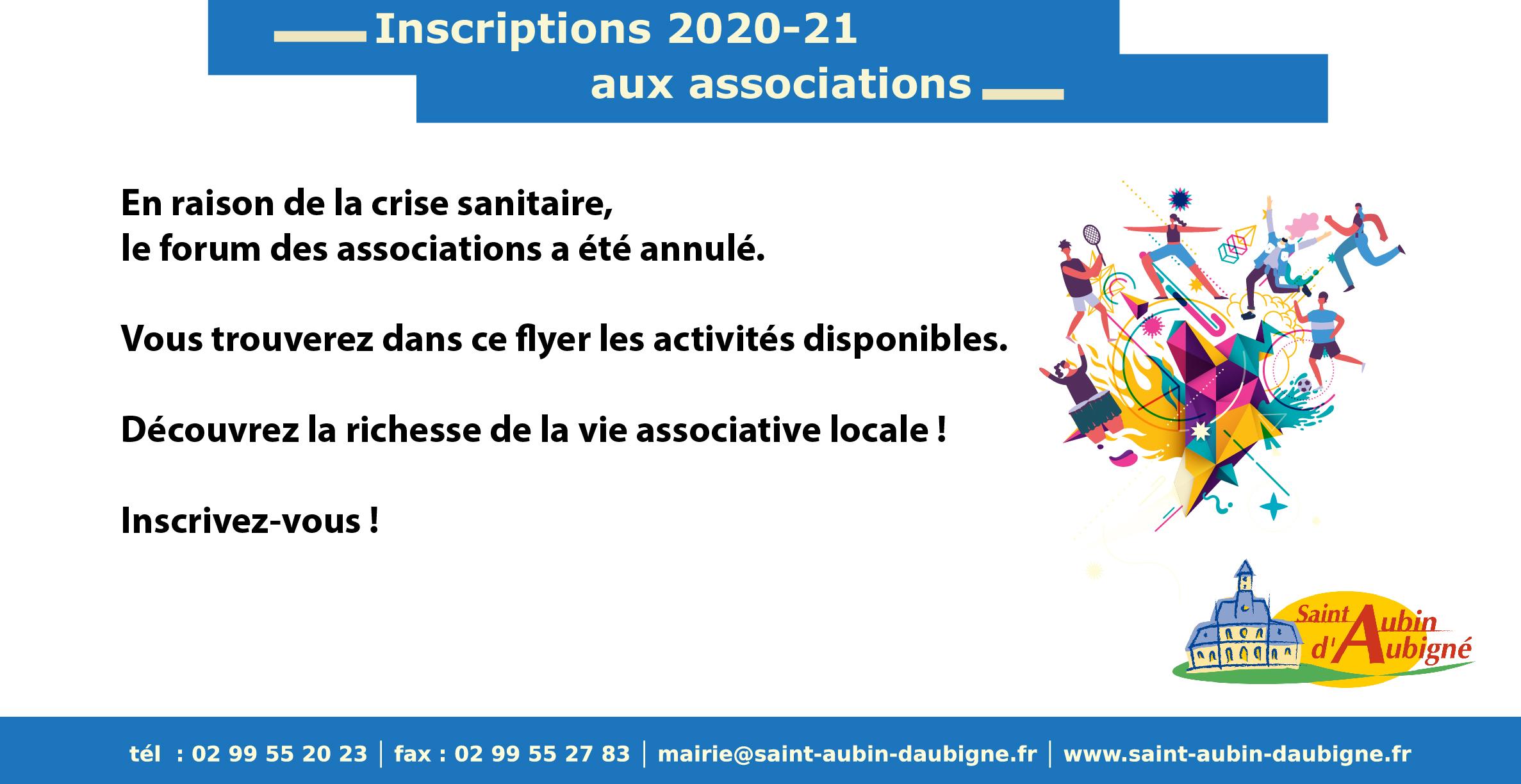 inscriptions 2020-21 aux associations