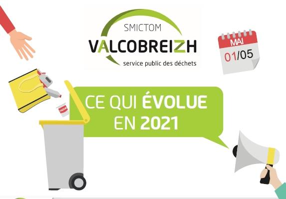 Collectes des déchets  des changements à compter du 1er mai 2021
